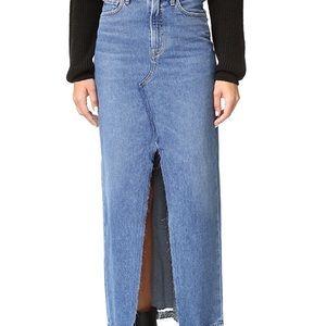 NWT AGOLDE Piper '90s Grunge Skirt